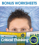 Critical Thinking - BONUS WORKSHEETS