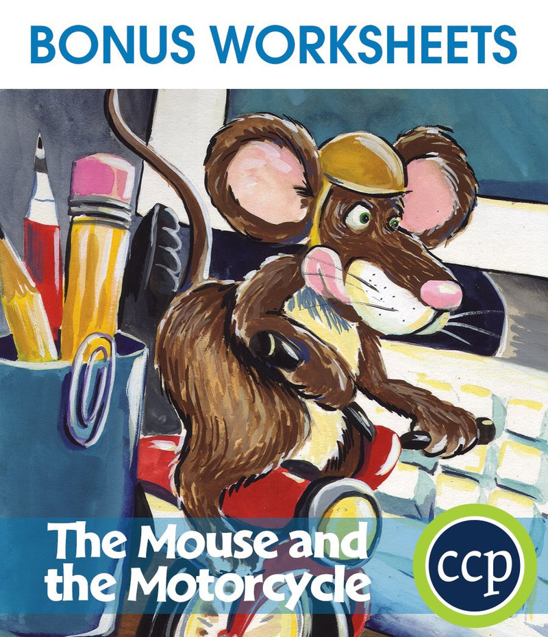 The Mouse and the Motorcycle - BONUS WORKSHEETS