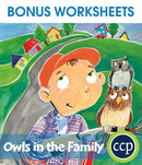 Owls in the Family - BONUS WORKSHEETS
