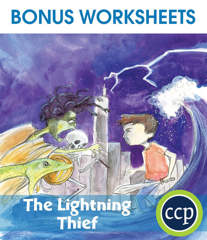 The Lightning Thief - BONUS WORKSHEETS