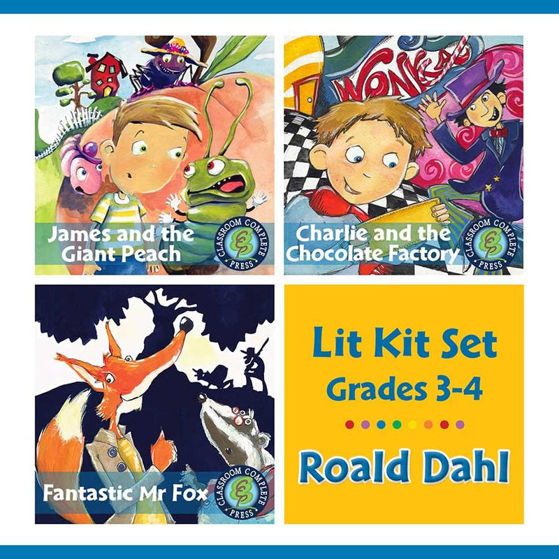 Roald Dahl Lit Kit Set - Gr. 3-4