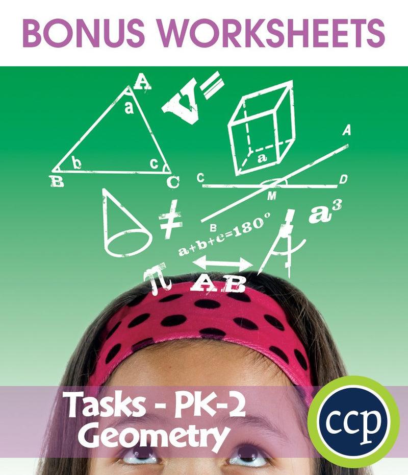 Geometry - Task Sheets Gr. PK-2 - BONUS WORKSHEETS