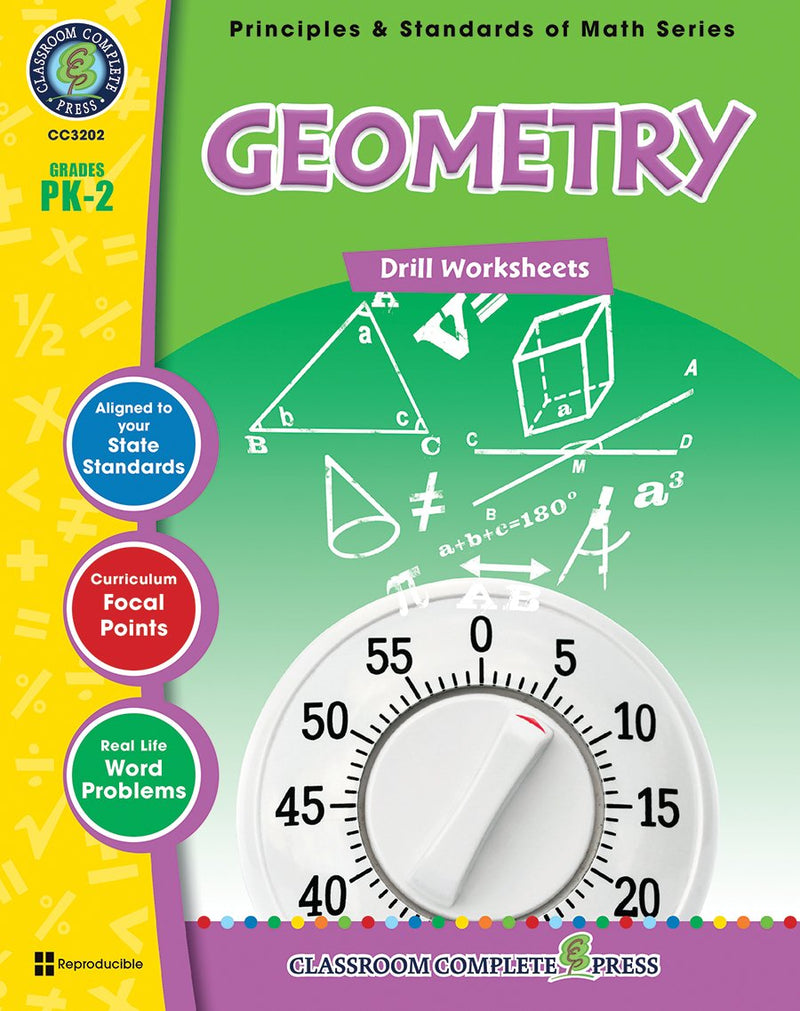 Geometry - Grades PK-2 - Drill Sheets