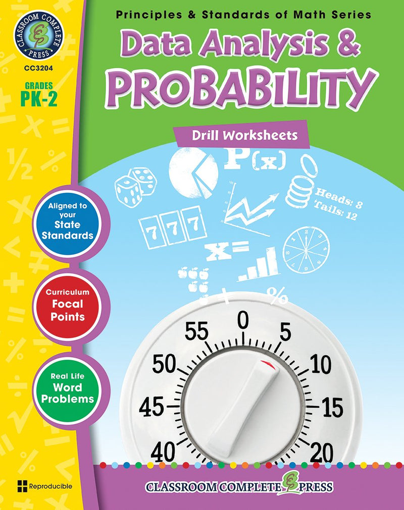 Data Analysis & Probability - Grades PK-2 - Drill Sheets