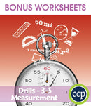 Measurement - Drill Sheets Gr. 3-5 - BONUS WORKSHEETS