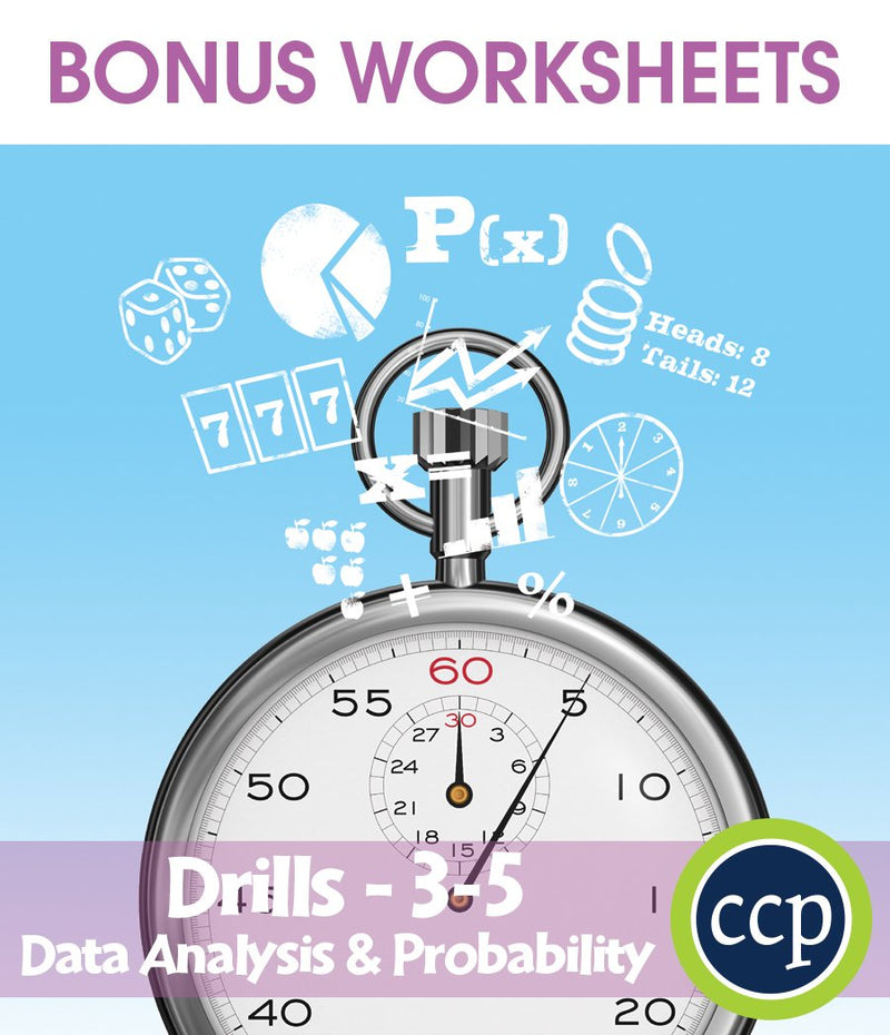 Data Analysis & Probability - Drill Sheets Gr. 3-5 - BONUS WORKSHEETS
