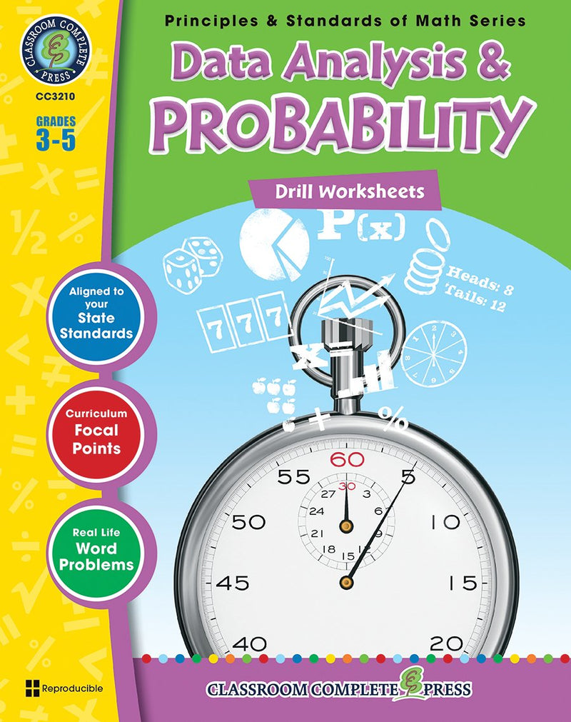 Data Analysis & Probability - Grades 3-5 - Drill Sheets