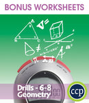 Geometry - Drill Sheets Gr. 6-8 - BONUS WORKSHEETS