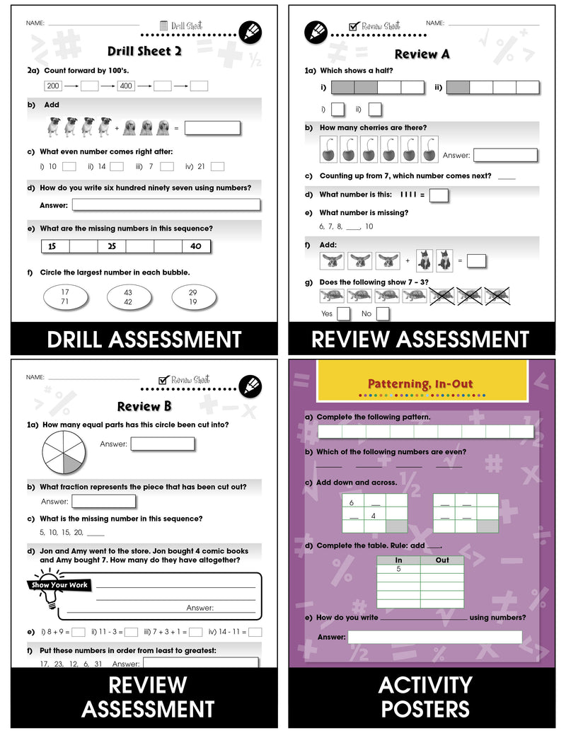 Number & Operations - Grades PK-2 - Task & Drill Sheets