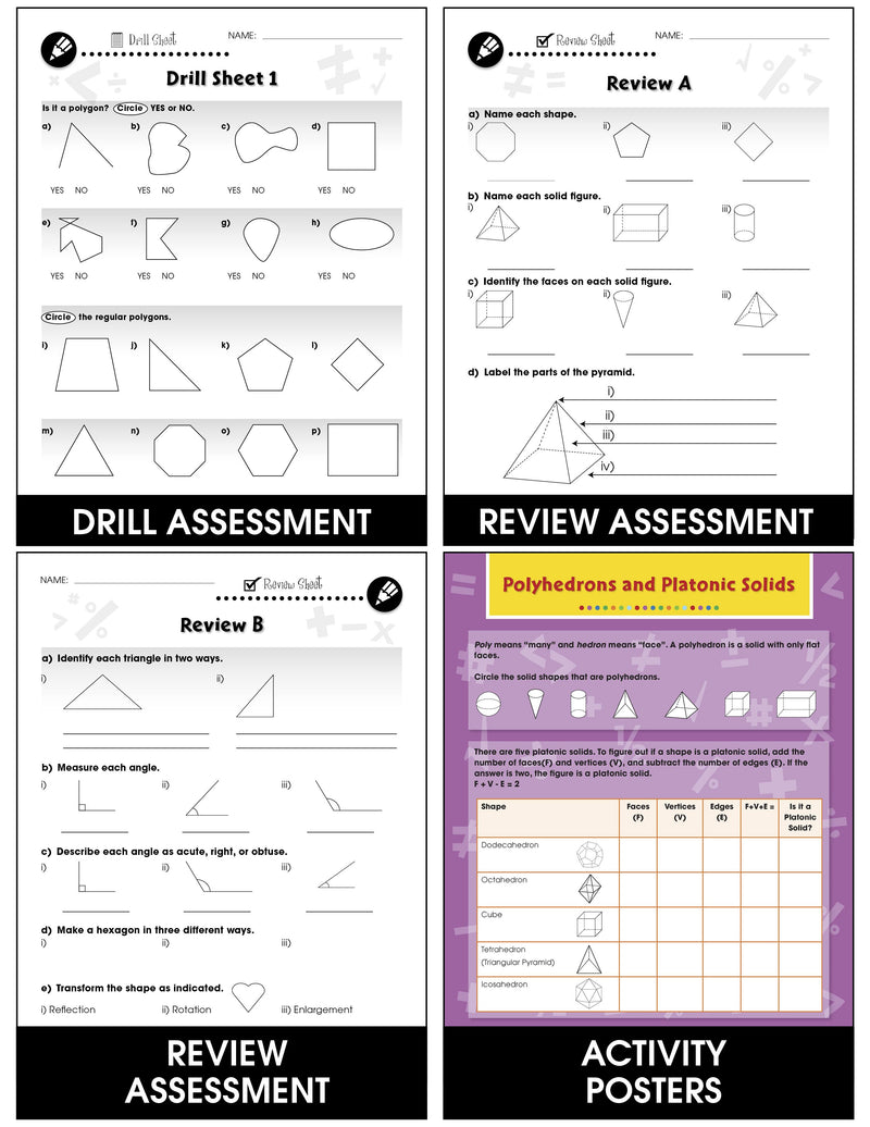 Geometry - Grades 3-5 - Task & Drill Sheets