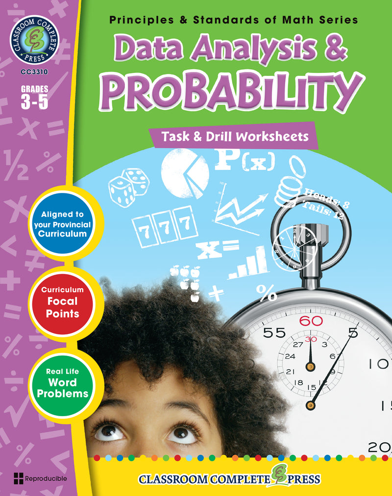 Data Analysis & Probability - Grades 3-5 - Task & Drill Sheets