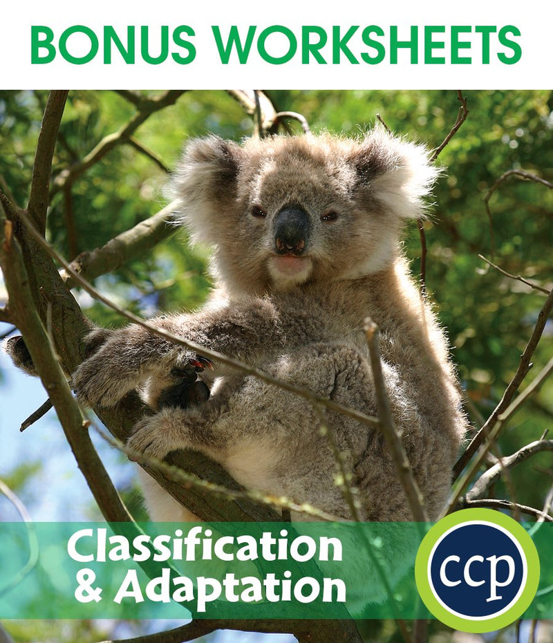 Classification & Adaptation - BONUS WORKSHEETS