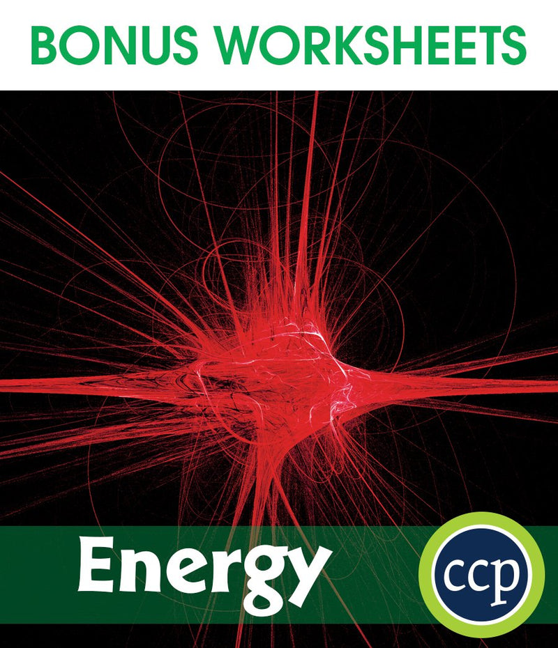 Energy - BONUS WORKSHEETS