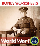 World War I - BONUS WORKSHEETS