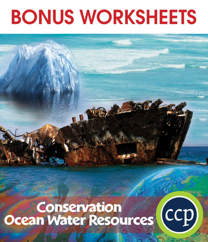 Conservation: Ocean Water Resources - BONUS WORKSHEETS