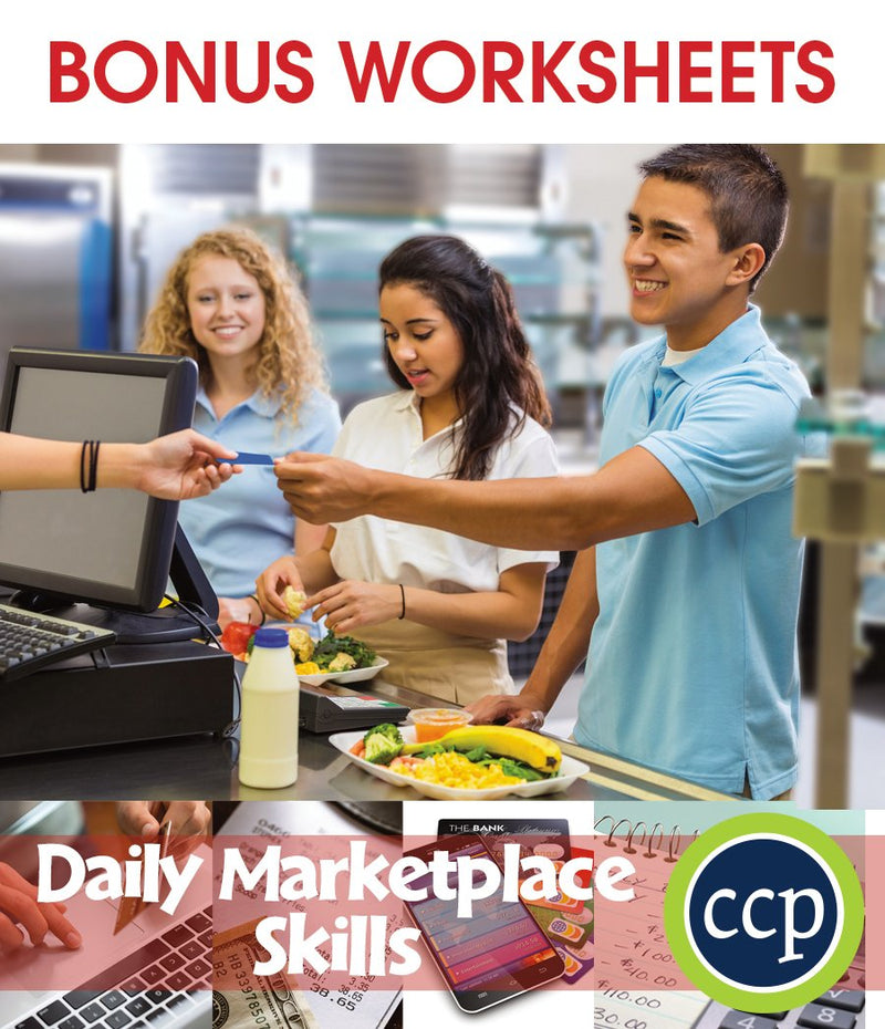 Daily Marketplace Skills - Canadian Content - BONUS WORKSHEETS