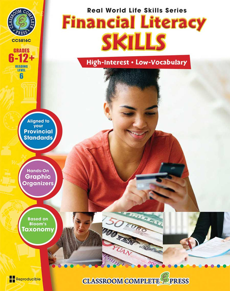 Real World Life Skills - Financial Literacy Skills - Canadian Content