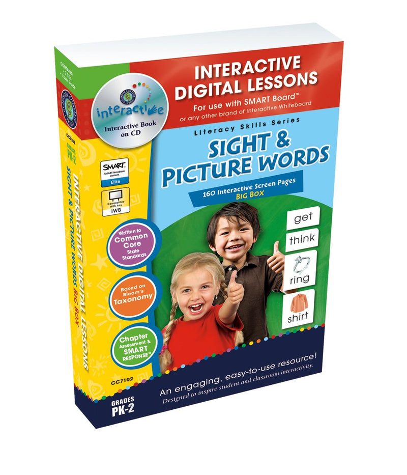 Sight & Picture Words Big Box - DIGITAL LESSON PLAN