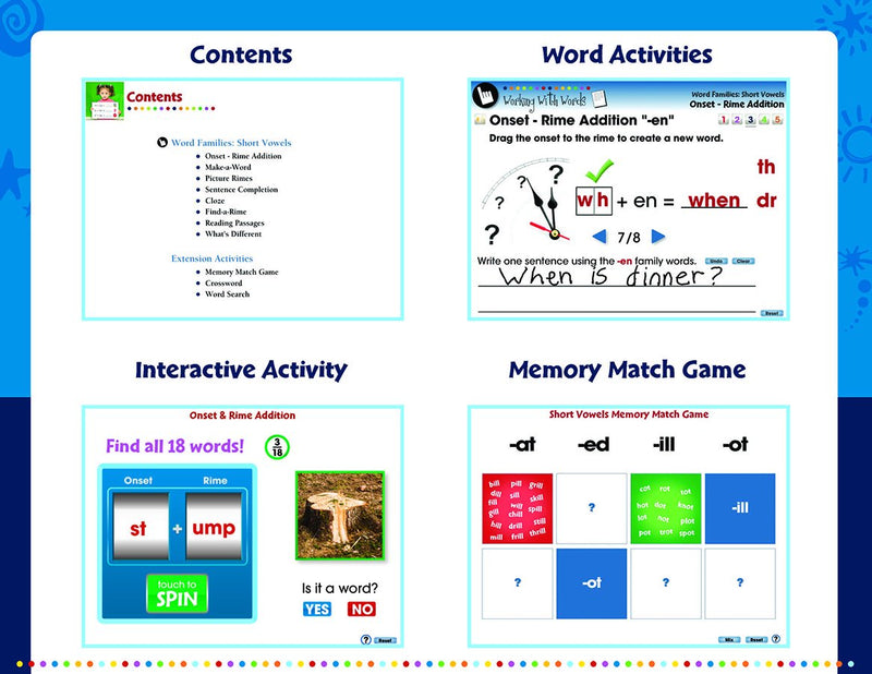 Word Families: Short Vowels -