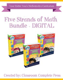 Five Strands of Math - Task and Drills Bundle - DIGITAL LESSONS