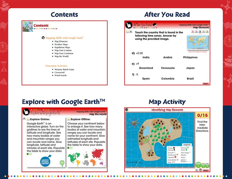 Mapping Skills with Google Earth - Grades 6-8 -