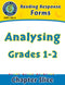 Reading Response Forms: Analysing Gr. 1-2
