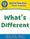 Word Families - Short Vowels: What's Different
