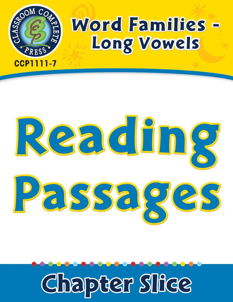 Word Families - Long Vowels: Reading Passages