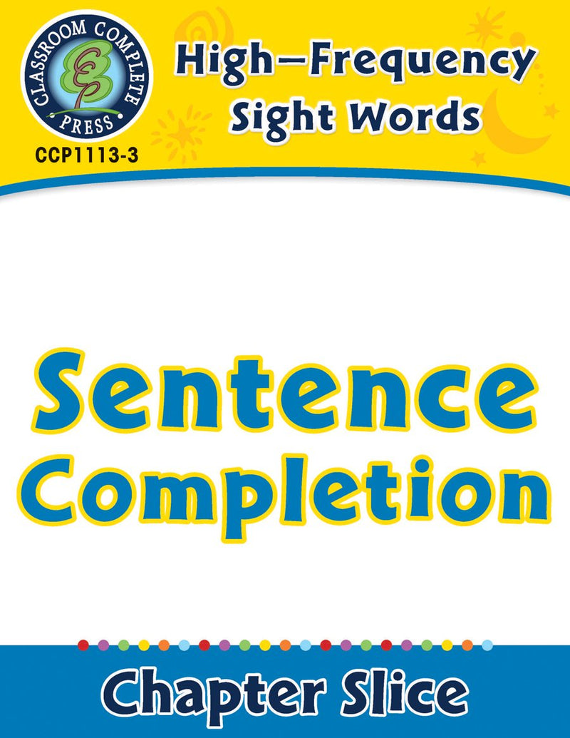 High-Frequency Sight Words: Sentence Completion