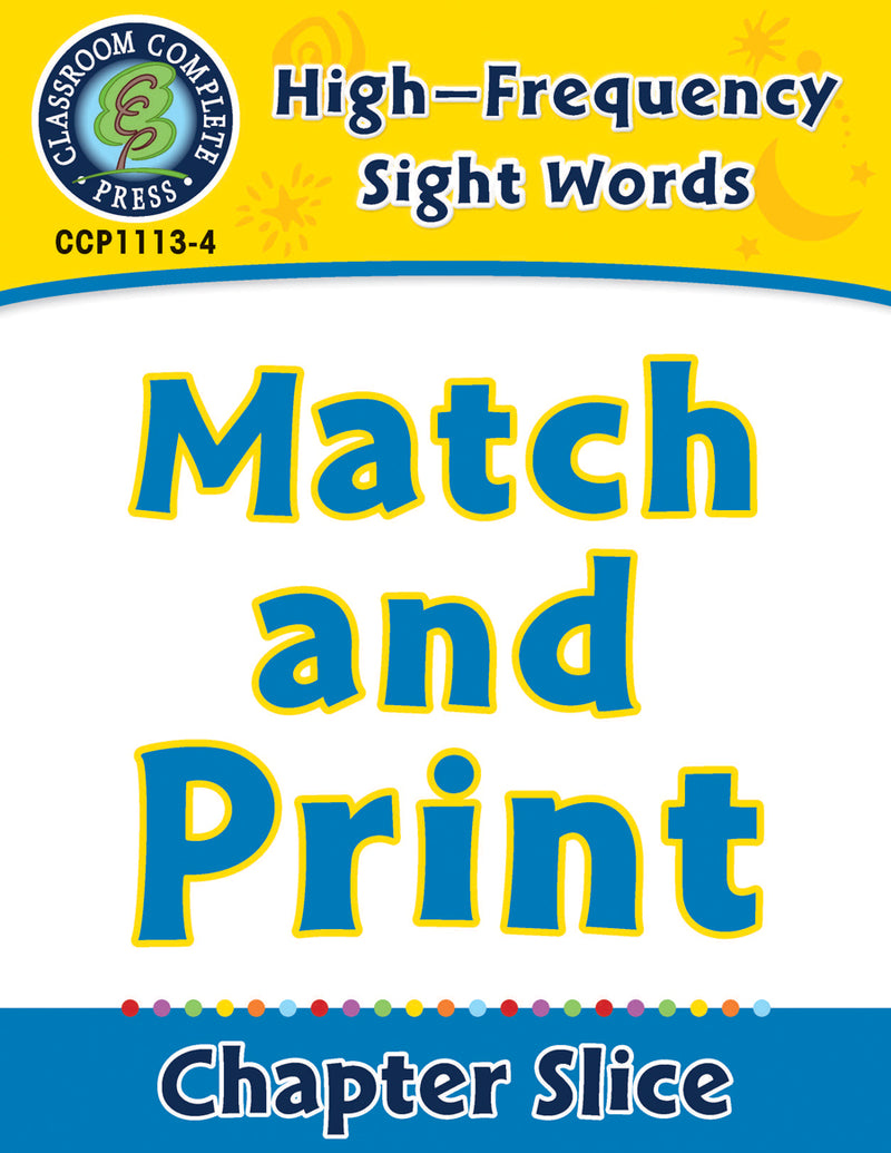 High-Frequency Sight Words: Match and Print