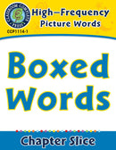 High-Frequency Picture Words: Boxed Words