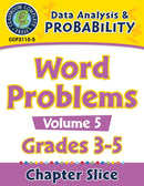 Data Analysis & Probability: Word Problems Vol. 5 Gr. 3-5