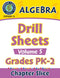 Algebra - Drill Sheets Vol. 5 Gr. PK-2