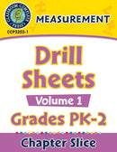 Measurement - Drill Sheets Vol. 1 Gr. PK-2