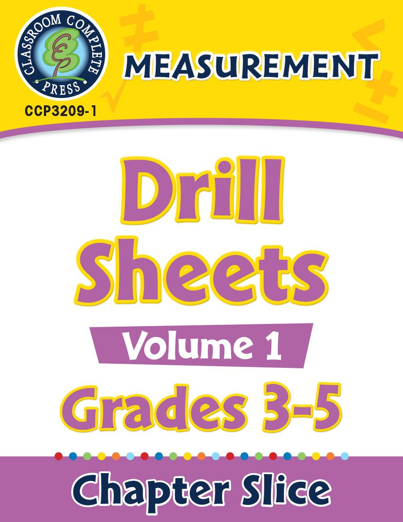 Measurement: Drill Sheets Vol. 1 Gr. 3-5
