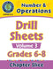 Number & Operations - Drill Sheets Vol. 3 Gr. 6-8