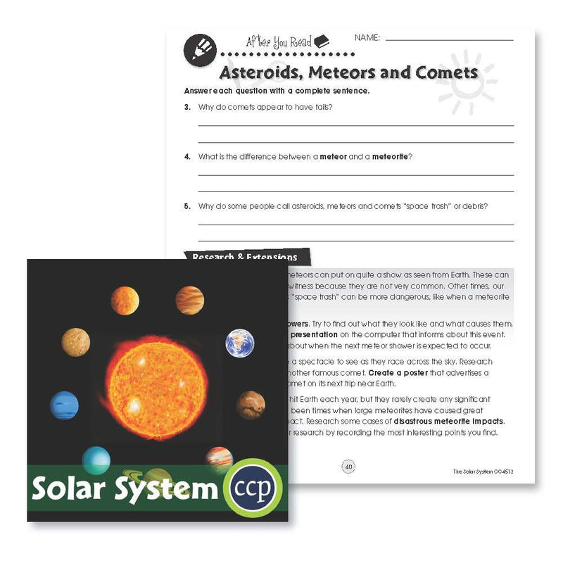 Solar System: Comets & Meteors Research - WORKSHEET