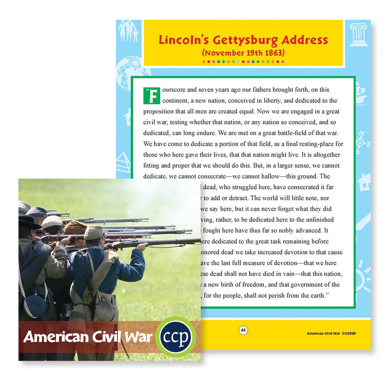 American Civil War: Lincoln's Gettysburg Address - WORKSHEET
