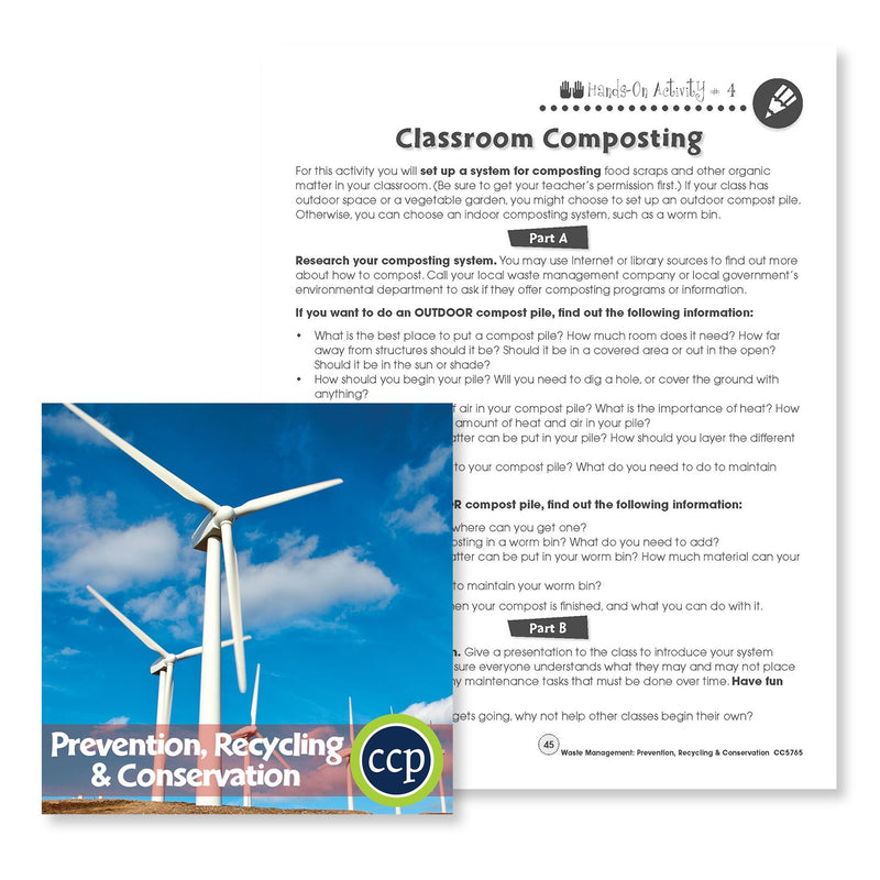 Prevention, Recycling & Conservation: Classroom Composting - WORKSHEET