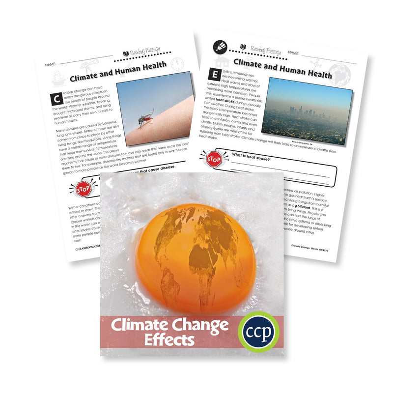 Climate Change: Effects: Climate and Human Health Reading Passage - WORKSHEET