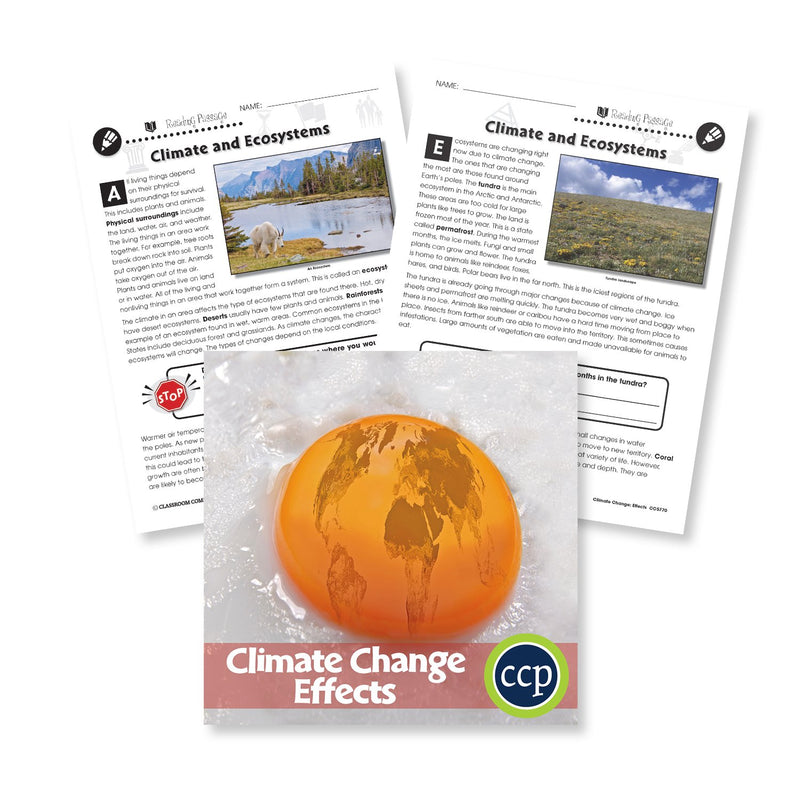 Climate Change: Effects: Climate and Ecosystems Reading Passage - WORKSHEET