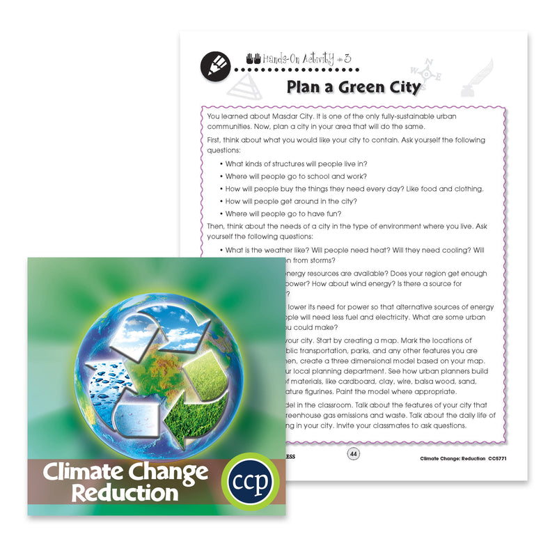 Climate Change Reduction: Plan a Green City - WORKSHEET