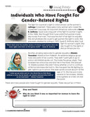 Gender Equality & Inequality: Gender-Related Rights Reading Passage - WORKSHEET