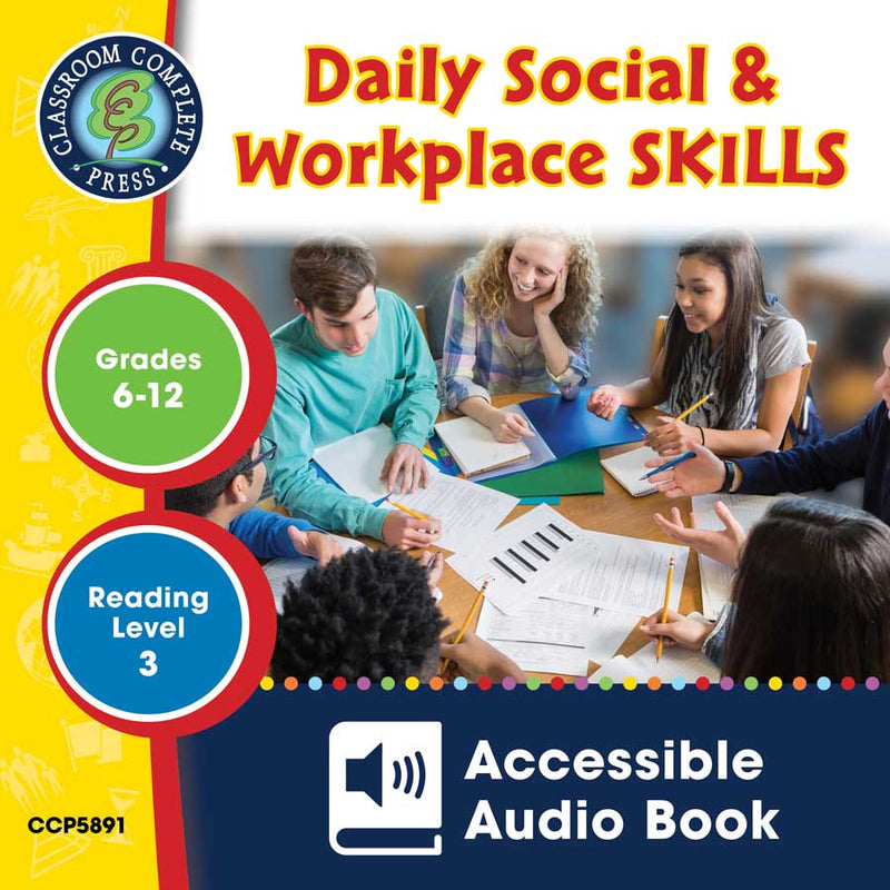 PRE-ORDER: Daily Social & Workplace Skills - Accessible Audio Book