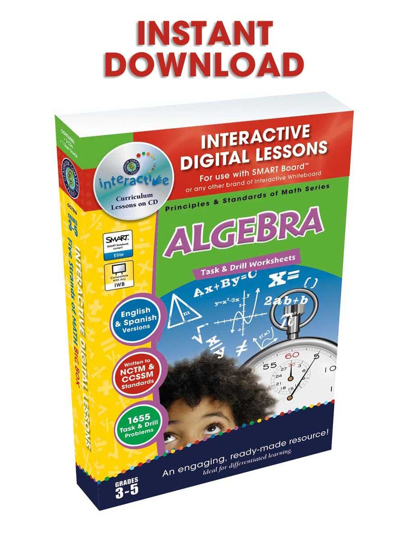Algebra - Grades 3-5 - DIGITAL LESSON PLAN