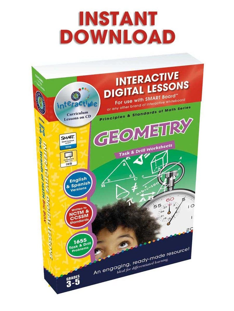 Geometry - Grades 3-5 - DIGITAL LESSON PLAN