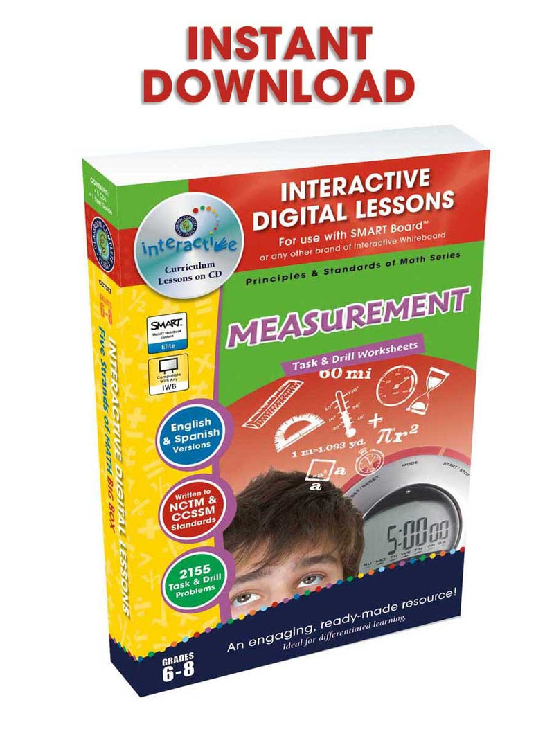 Measurement - Grades 6-8 - DIGITAL LESSON PLAN
