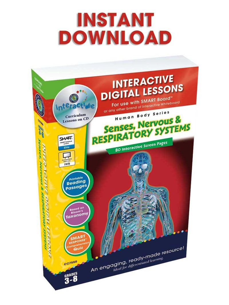 Senses, Nervous & Respiratory Systems - DIGITAL LESSON PLAN