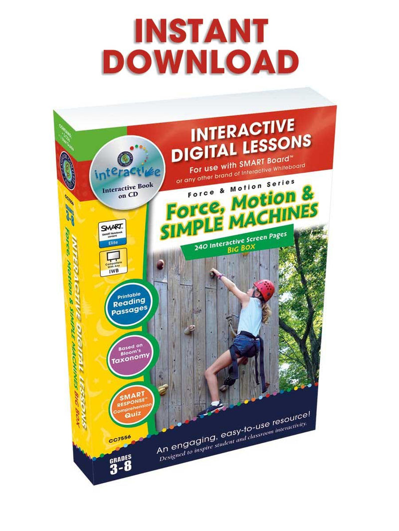 Force & Motion Big Box - DIGITAL LESSON PLAN