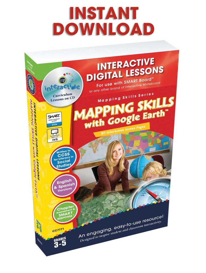 Mapping Skills with Google Earth - Grades 3-5 - DIGITAL LESSON PLAN